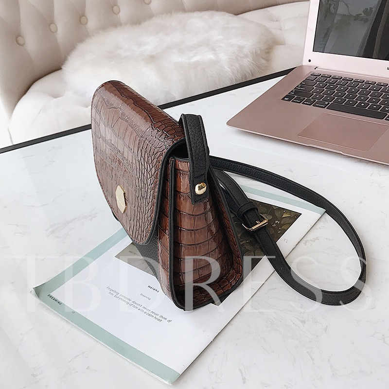 Crocodile Embossing Cross Body Bag