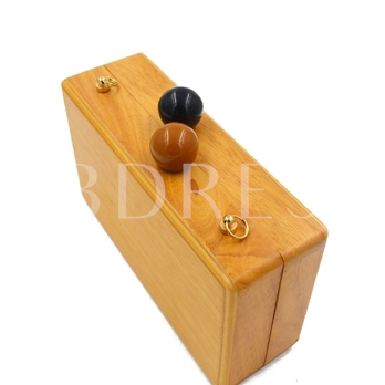 Personality Wooden Evening Clutch