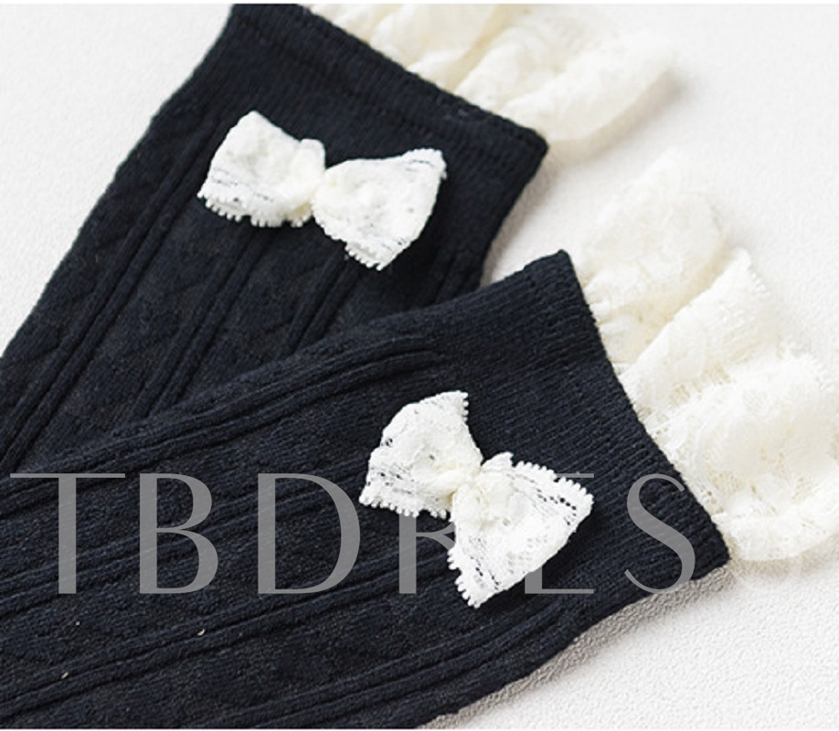 Lace Bow Sweet Shoes Maid Outfit Length Socks