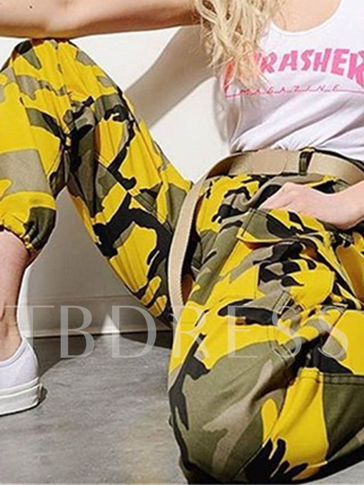 Loose Camo Women's Long Harem Pants