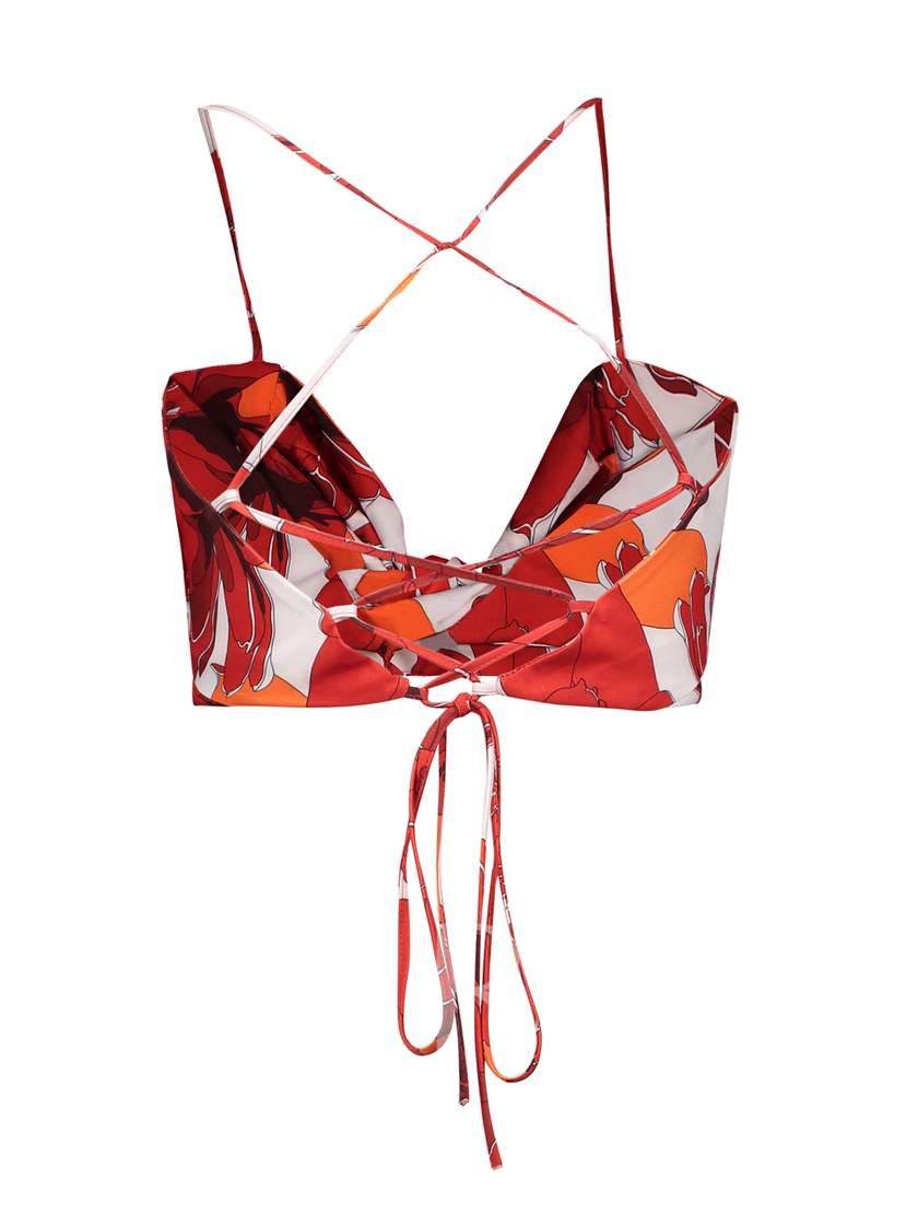Twist Knot Lace-Up Strappy Women's Crop Top