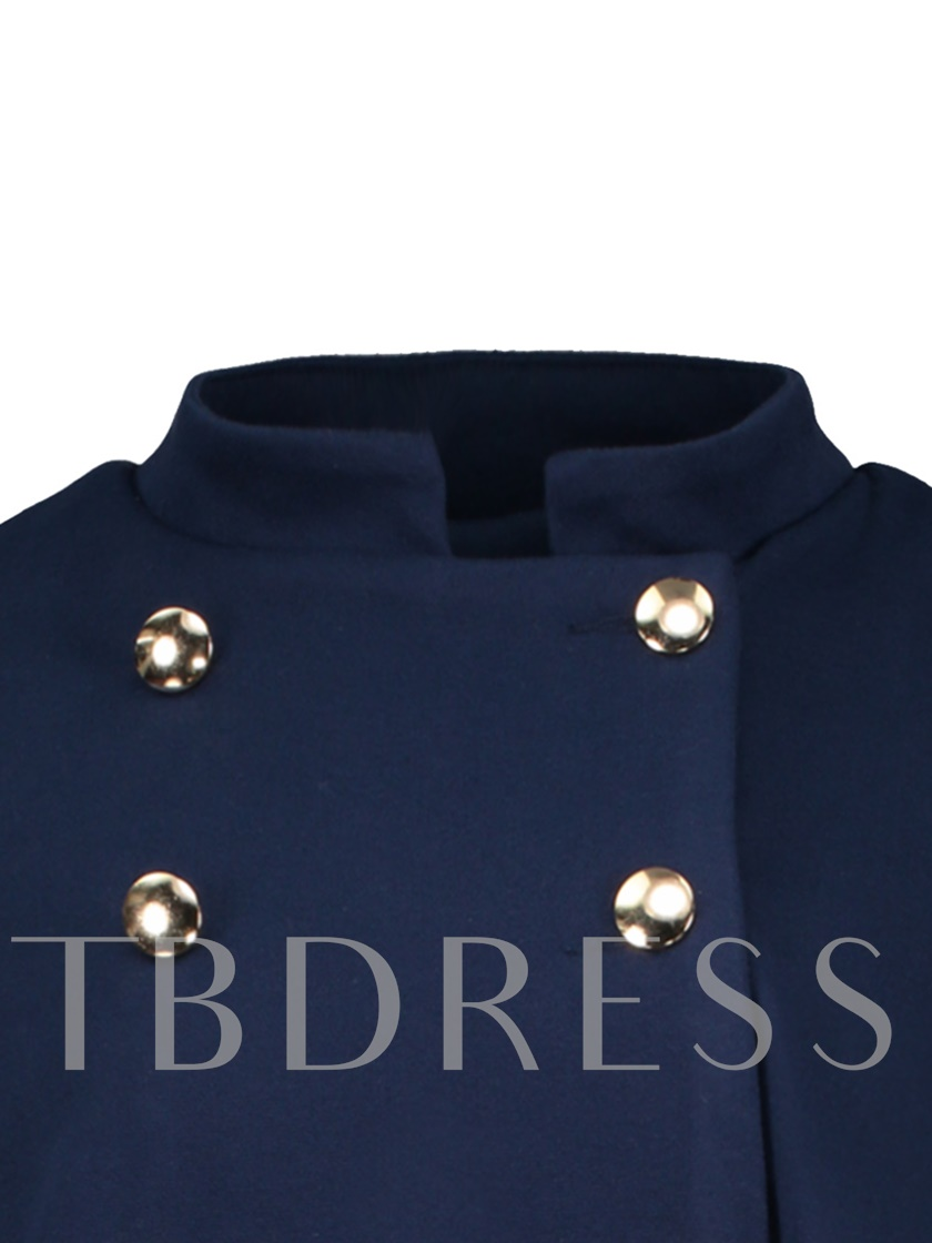 Plus Size Double-Breasted Women's Cape Coat