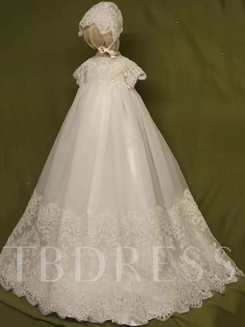 Appliques Beading Baby Girl's Christening Gown