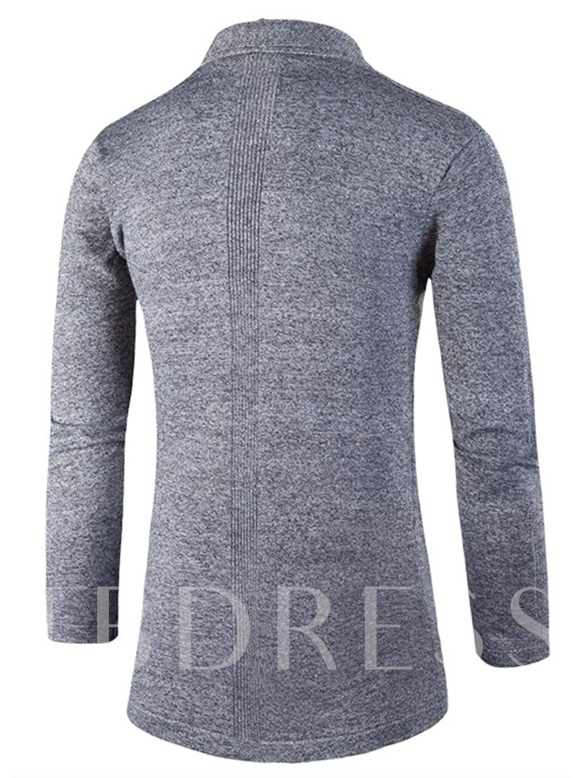 Cardigan Solid Color Slim Knit Men's Sweater