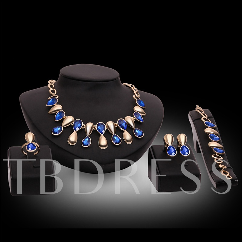 Ultra Violet Alloy Synthetic Stones Jewelry Sets
