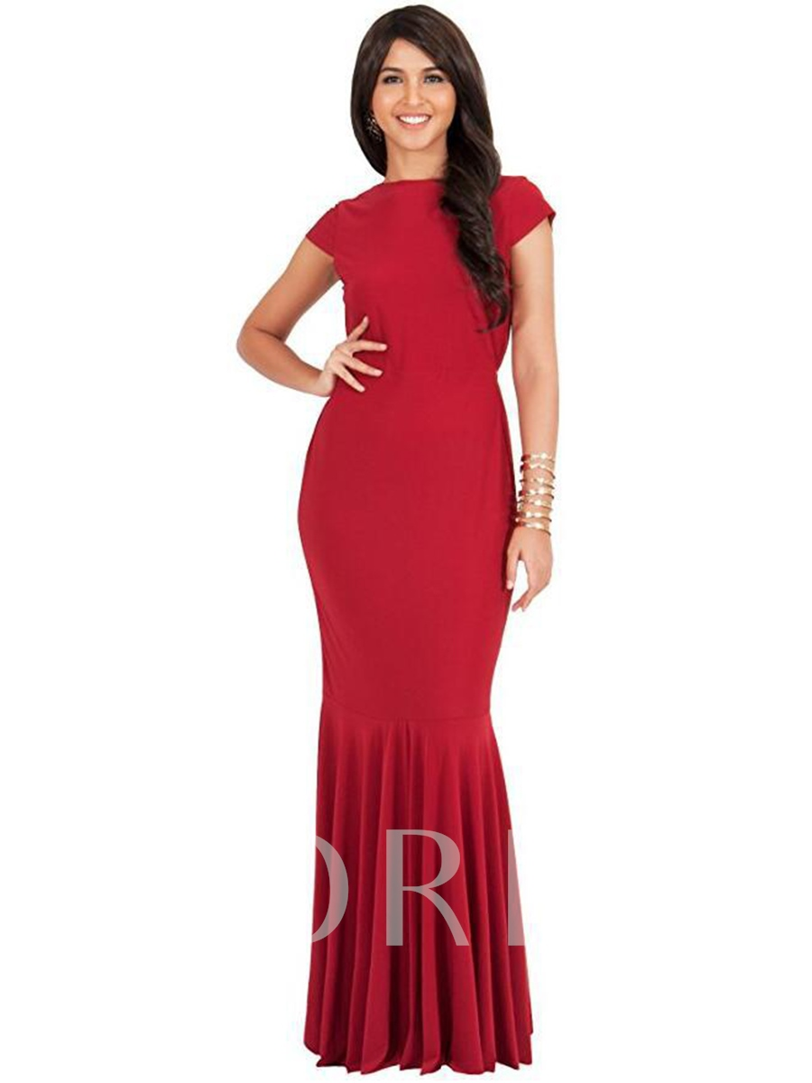 Women's Maxi Dress with Cap Sleeves