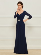 3/4 Length Sleeve Mother of the Bride Dress