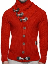 Cotton Blends Long Sleeves Slim Men's Sweaters
