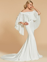 Trumpet Off-the-Shoulder Lace Sweep Train Evening Dress