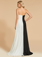A-Line Strapless Split-Front Evening Dress