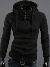 Pocket Plain Cardigan Hooded Men's Hoodies