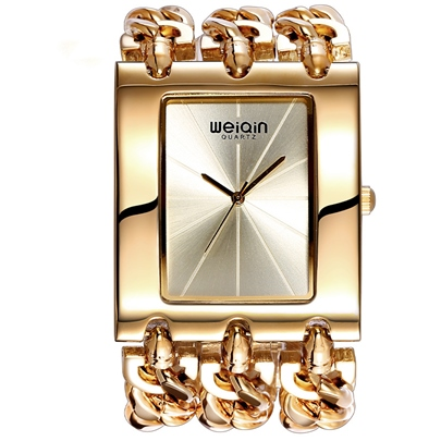 Overgild Rectangle Quartz Alloy Watches