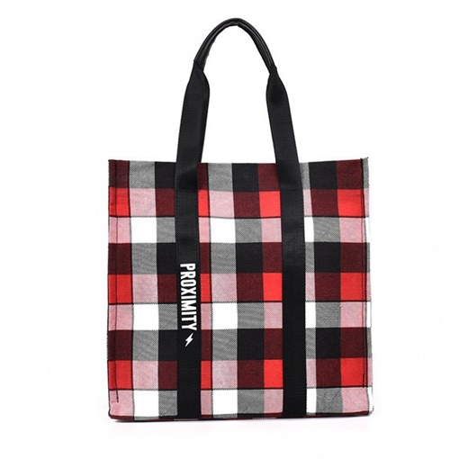 Classic Plaid Women Tote Bag