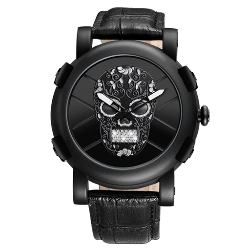 Skull Luminous Quartz Analogue Display Men's Watches