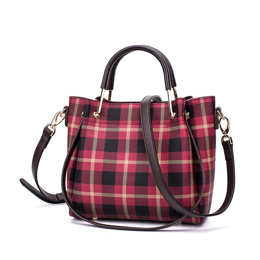 Classical Plaid Pattern Women Tote