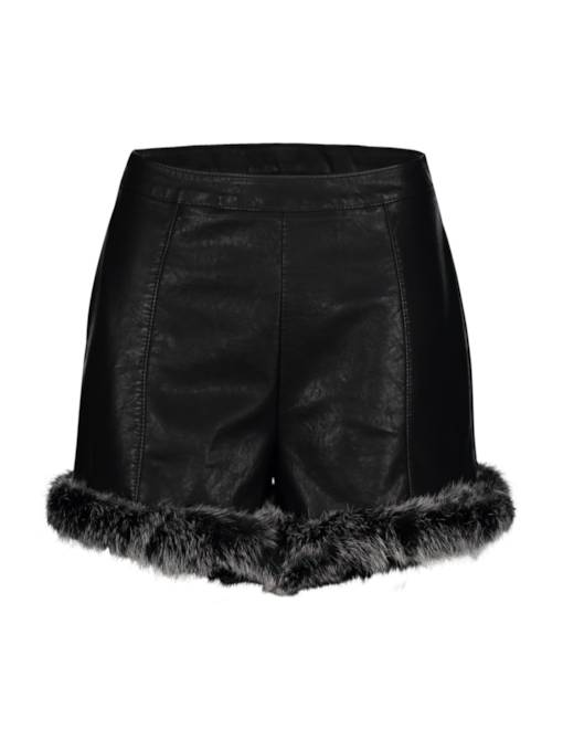 Slim Thick Faux Fur Patchwork Women's Shorts