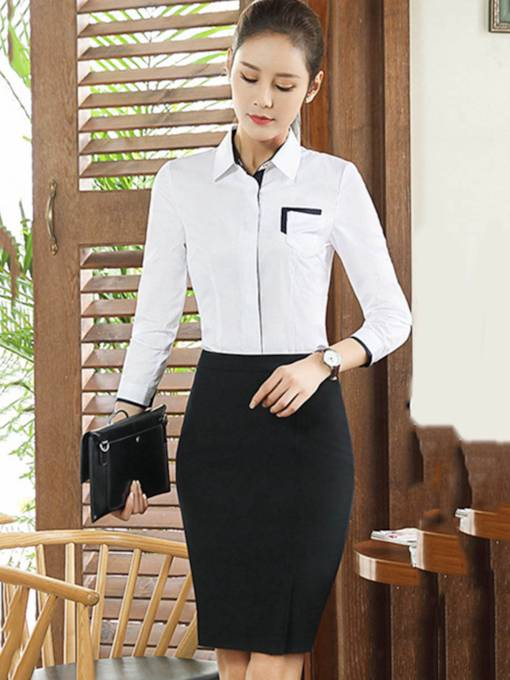 OL Long Sleeve Knee-Length Women's Suit