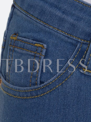 Skinny Zipper Full Length Women's Jeans