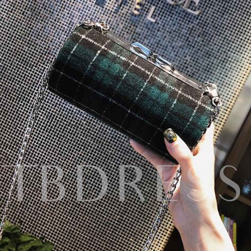 Classic Plaid Pillow Shape Cross Body Bag