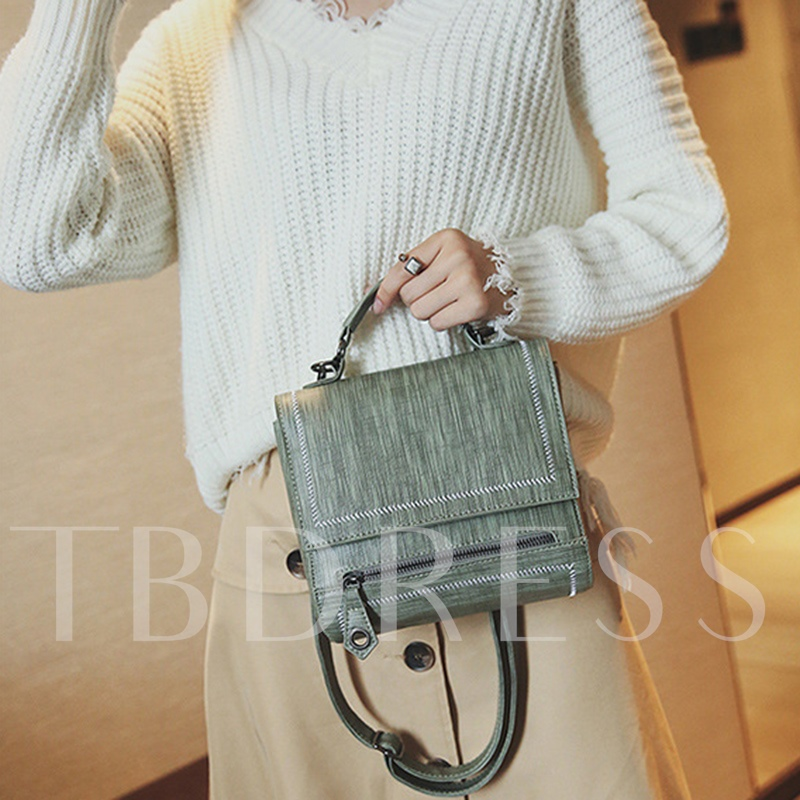 Retro Solid Color Women Cross Body Bag
