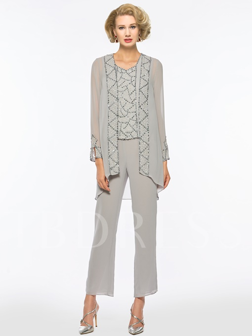 Sequined Mother of the Bride Jumpsuit with Jacket