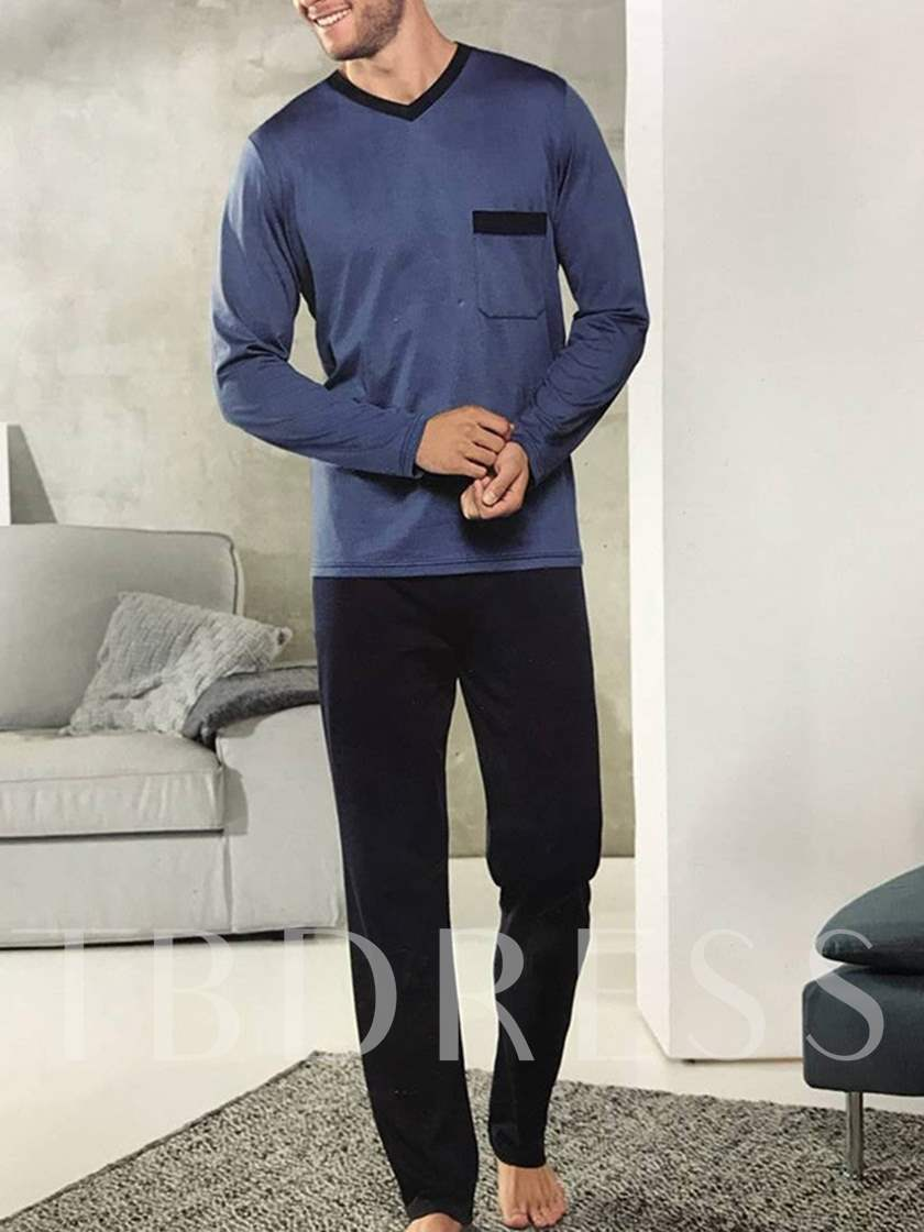 Long Sleeve Pullover Men's Pajamas Set