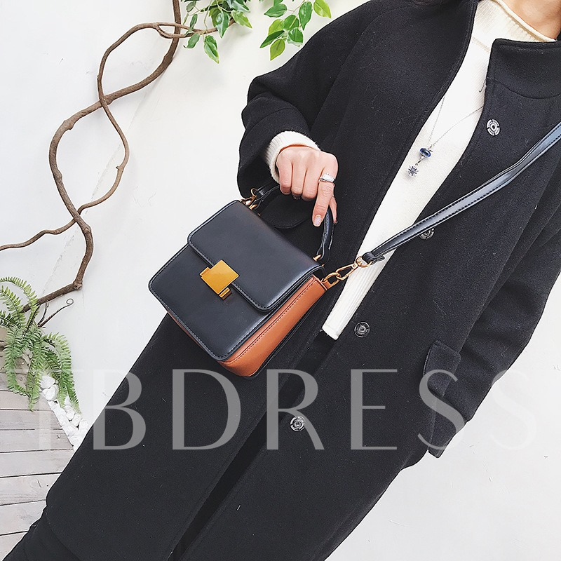 Solid Color Soft PU Cross Body Bag