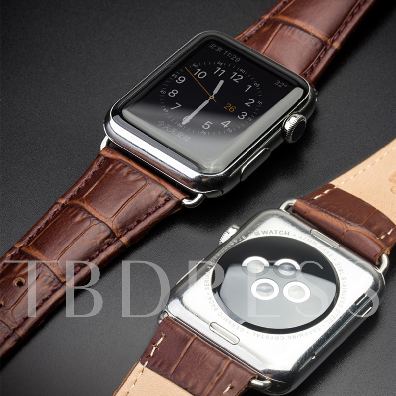 Smart Watch Band Artificial Leather Anti-sweat for Apple Watch 3/2/1