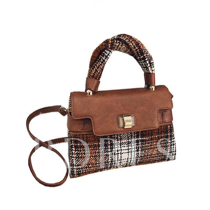 Vintage Plaid PU Cross Body Bag