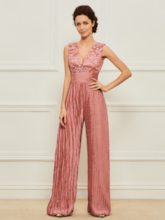 Appliques Mother of the Bride Jumpsuits with Jacket