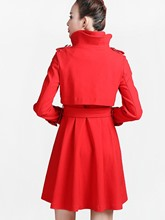 Slim Self Lace-Up Women's Trench Coat