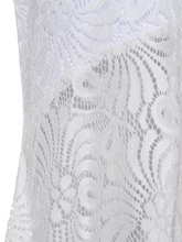 Stand Collar Hollow Backless Lace Women's Maxi Dress