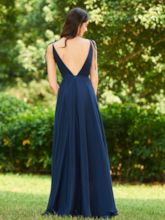 Straps Backless Long Bridesmaid Dress