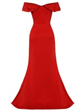 Red off Shoulder Women's Maxi Dress
