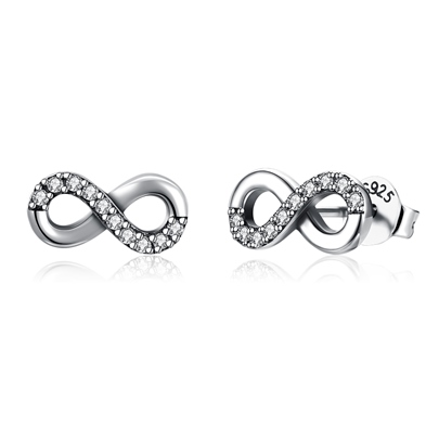 Hollow Out Zircon Inlaid S925 Silver Earrings