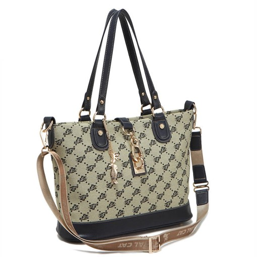 Trendy Geometric Pattern Zipper Shoulder Bag