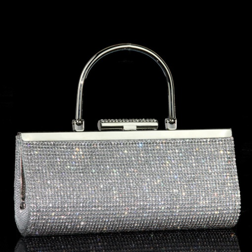 koreanische Art Pailletten Strass Clutch
