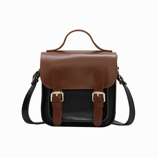 Casual Color Block Thread Cross Body Bag