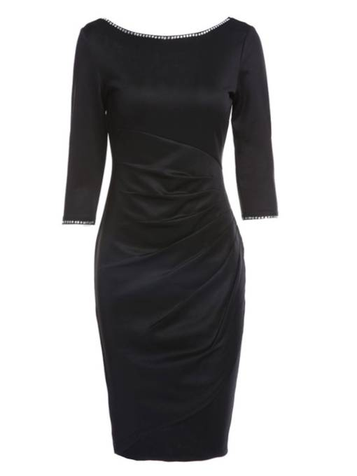 Ruffled Backless Women's Sheath Dress