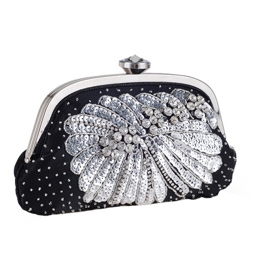 Exquisite Beads Decoration Evening Clutch