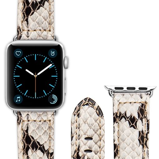 Apple Smart Watch Band Snake Skin Pattern Artificial Leather Strap for iWatch 3/2/1