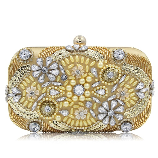 Pillow Shape Stately Rhinestone Clutch