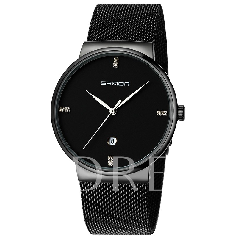Metal Analogue Display Stainless Steel Men's Watches