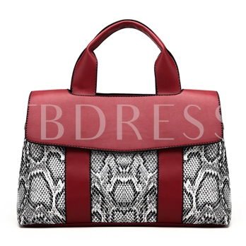Trendy Serpentine Pattern Women Tote