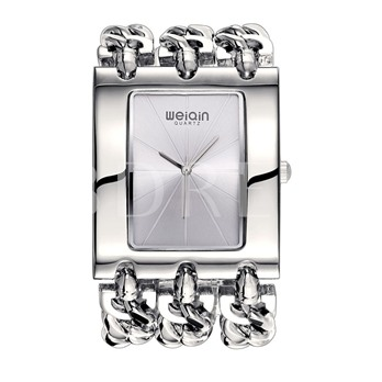 Square Alloy Water Resistant Chain Watches