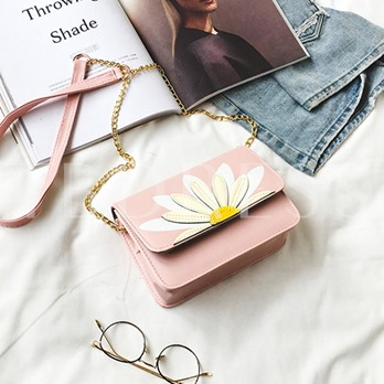 Casual Floral Adornment Cross Body Bag