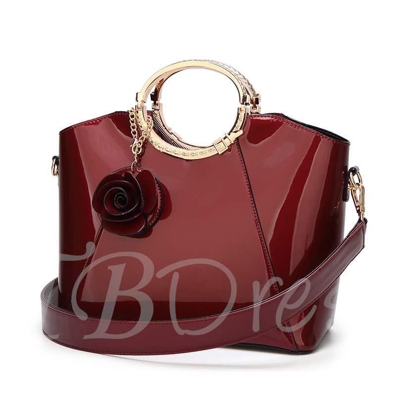 Occident Style Glossy PU Women Tote