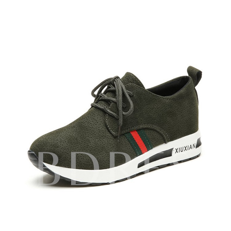 Platform Height Increase Lace Up Women's Sneaker