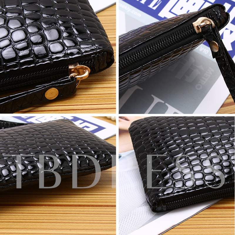 Casual Croco-Embossed Women Clutch