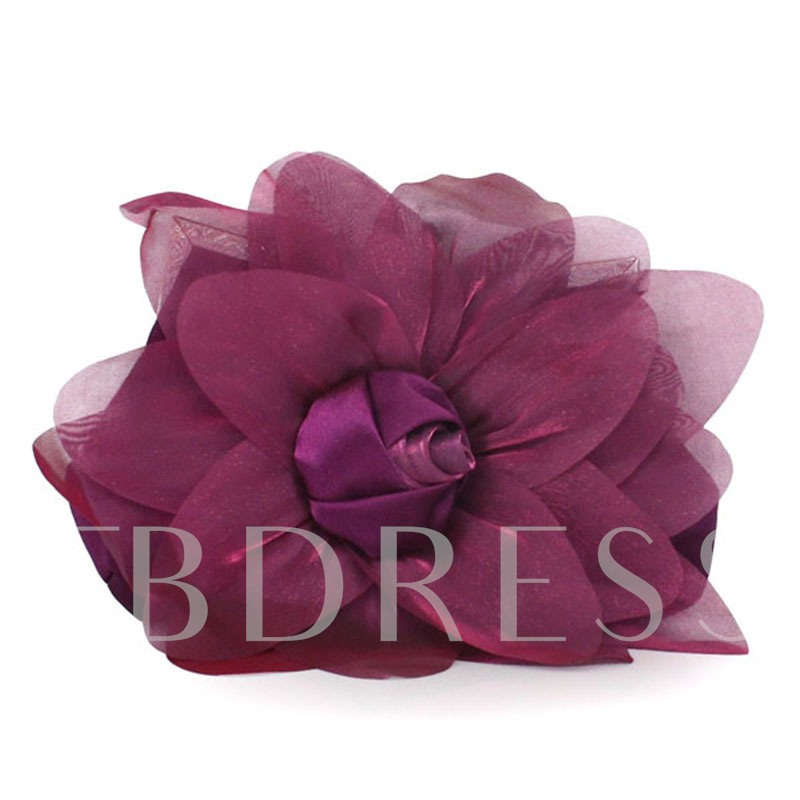 Personality Rose Design Solid Color Clutch